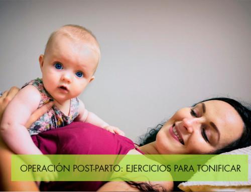 Operación post parto: Pierde peso mientras tonificas
